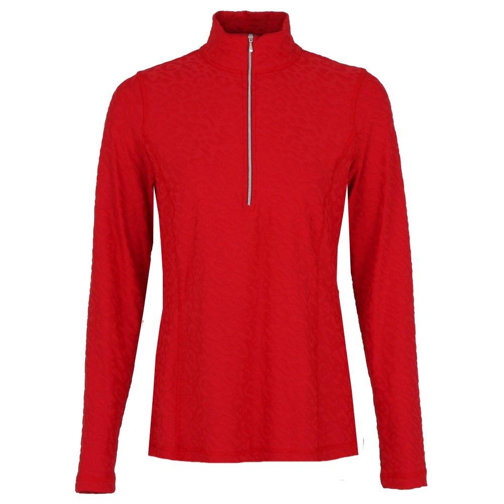 Sno Skins Animal Sport Fabric 1/4-Zip Mid-Layer (Women's) - Red