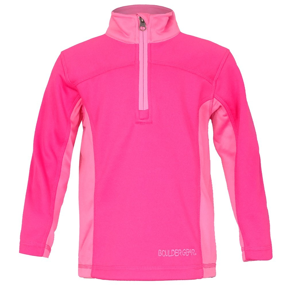 Boulder Gear Lumi Micro 1/4-Zip Mid-Layer (Little Girls') - Pink Shimmer