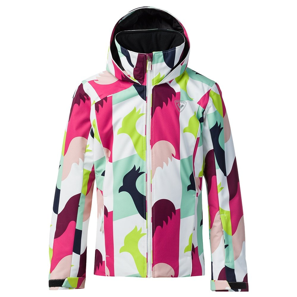 Rossignol Fonction Print Insulated Ski Jacket (Girls') - Macro Rooster White