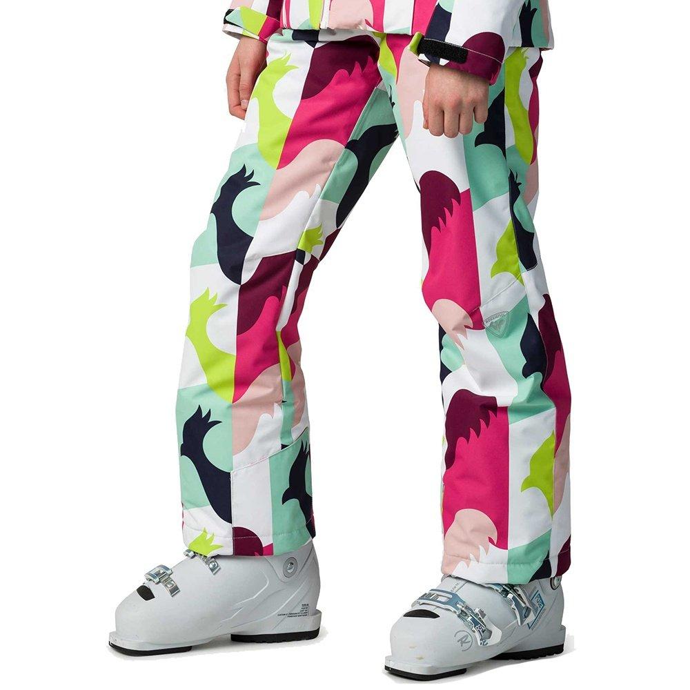 Rossignol Ski Print Insulated Ski Pant (Girls') - Macro Rooster White