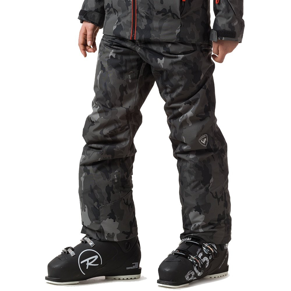 Rossignol Ski Print Insulated Ski Pant (Boys') - Camo Grey