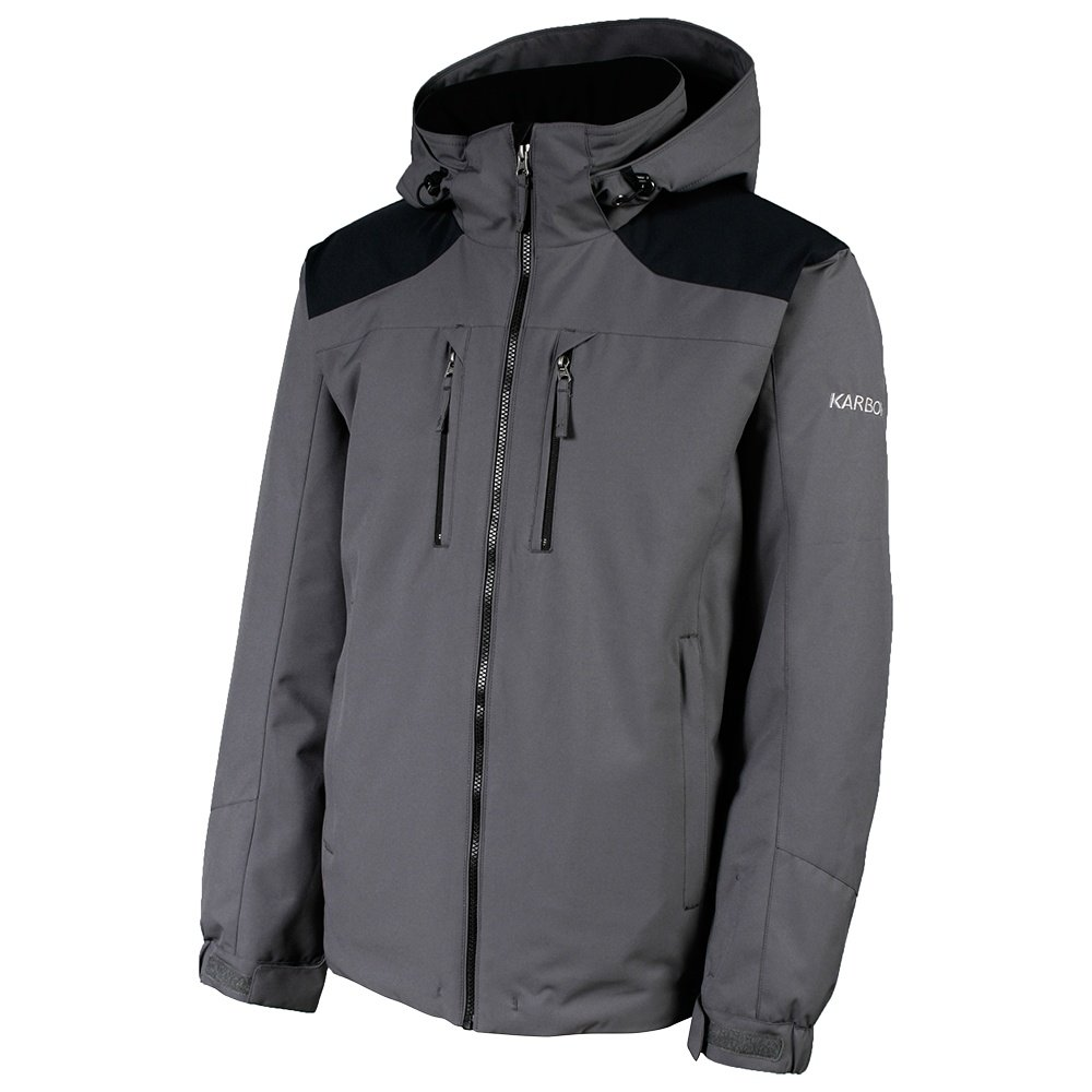 Karbon Particle Insulated Ski Jacket (Men's) - Crater Grey/Macaw Blue/Black