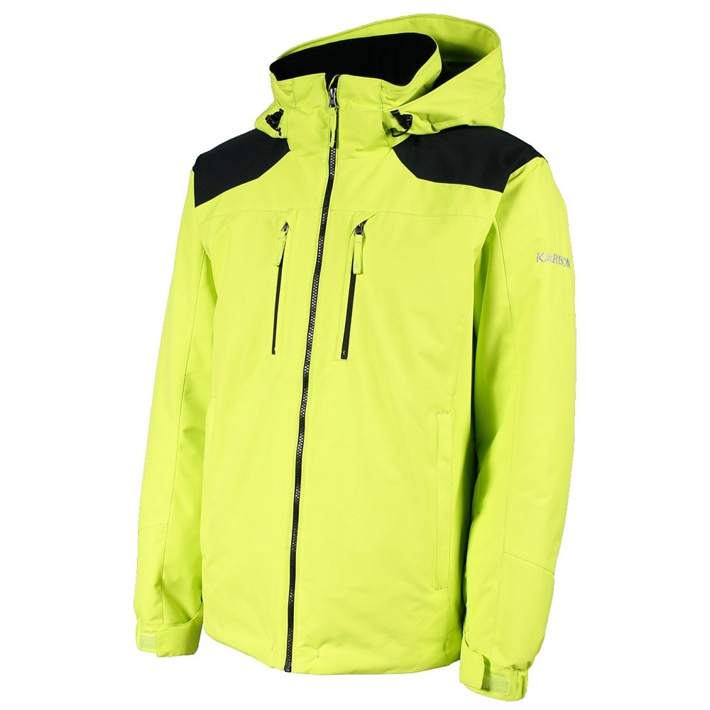 Karbon Molecule Insulated Ski Jacket (Men's) - Lime/Black