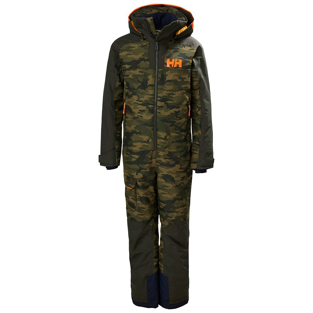 Helly Hansen Fly High Insulated Ski Suit (Boys') - Olive AOP