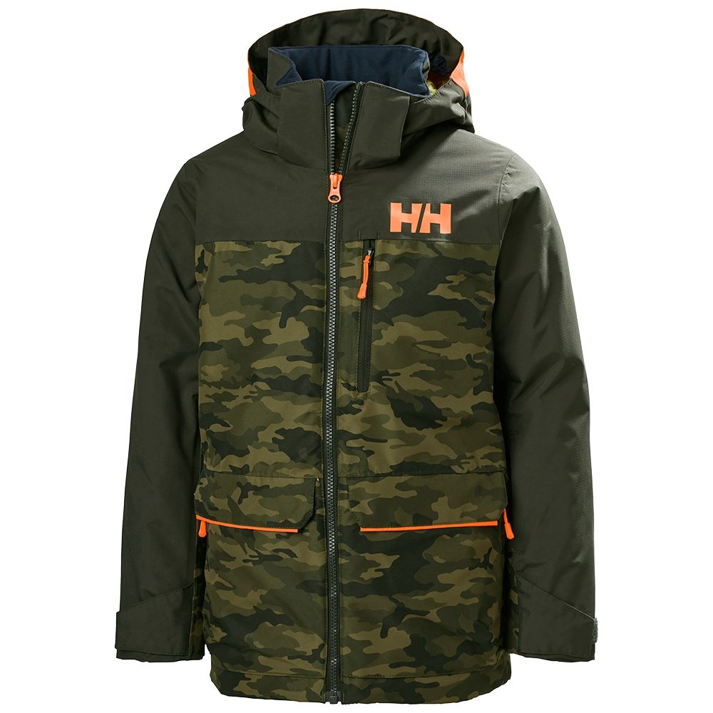 Helly Hansen Tornado Insulated Ski Jacket (Boys') - Olive AOP
