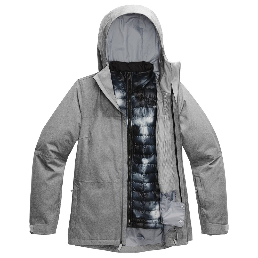 The North Face ThermoBall Eco Snow Triclimate Ski Jacket (Women's) - TNF Medium Grey/TNF Black Ink Blur Print