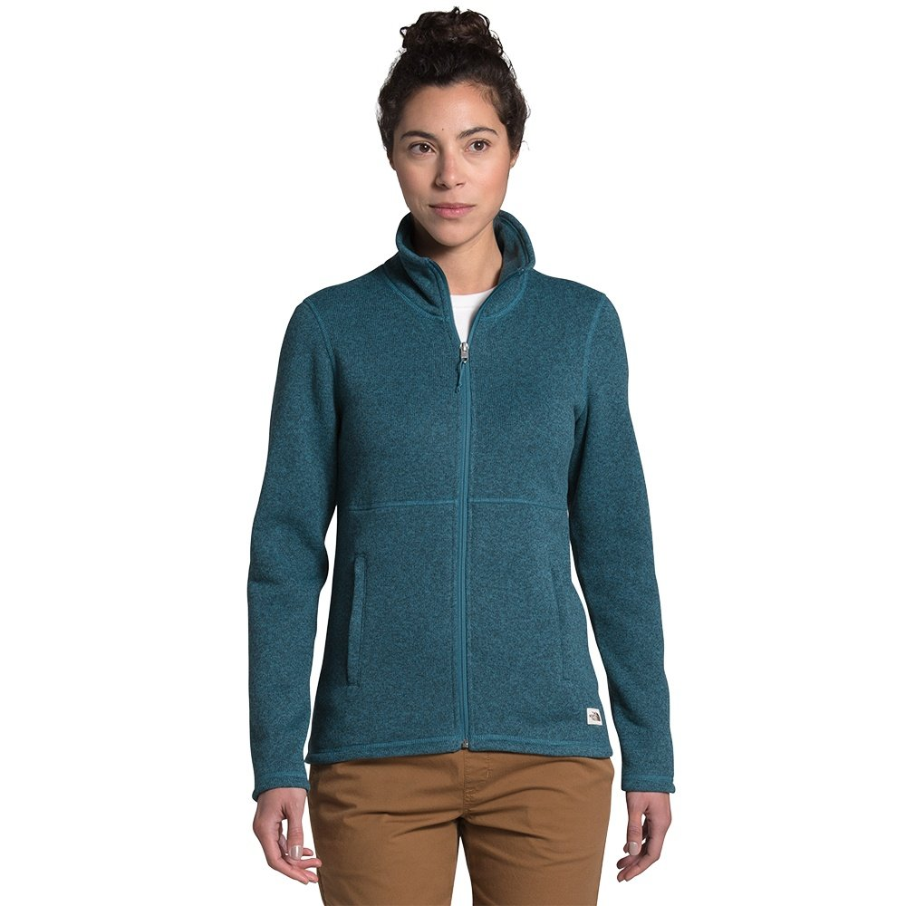 The North Face Crescent Full-Zip Sweater (Women's) - Mallard Blue Black Heather