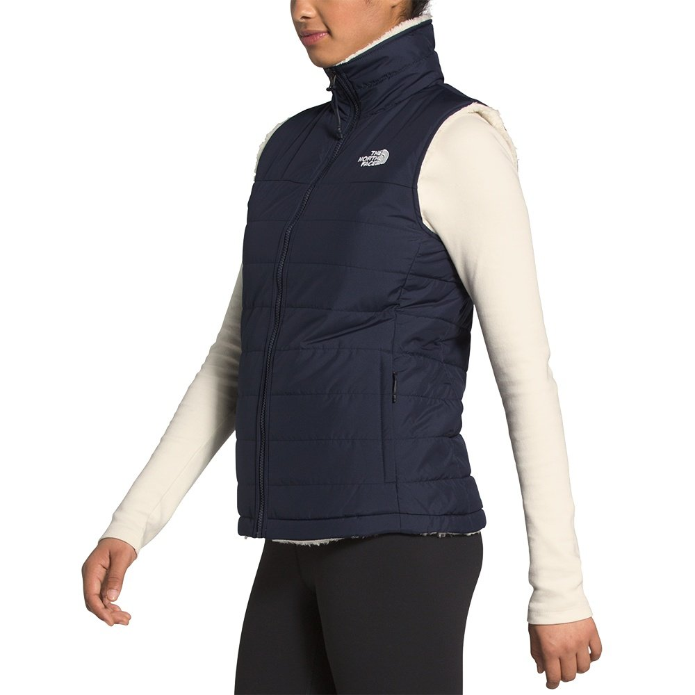 The North Face Mossbud Insulated Reversible Vest (Women's) - Aviator Navy/Vintage White