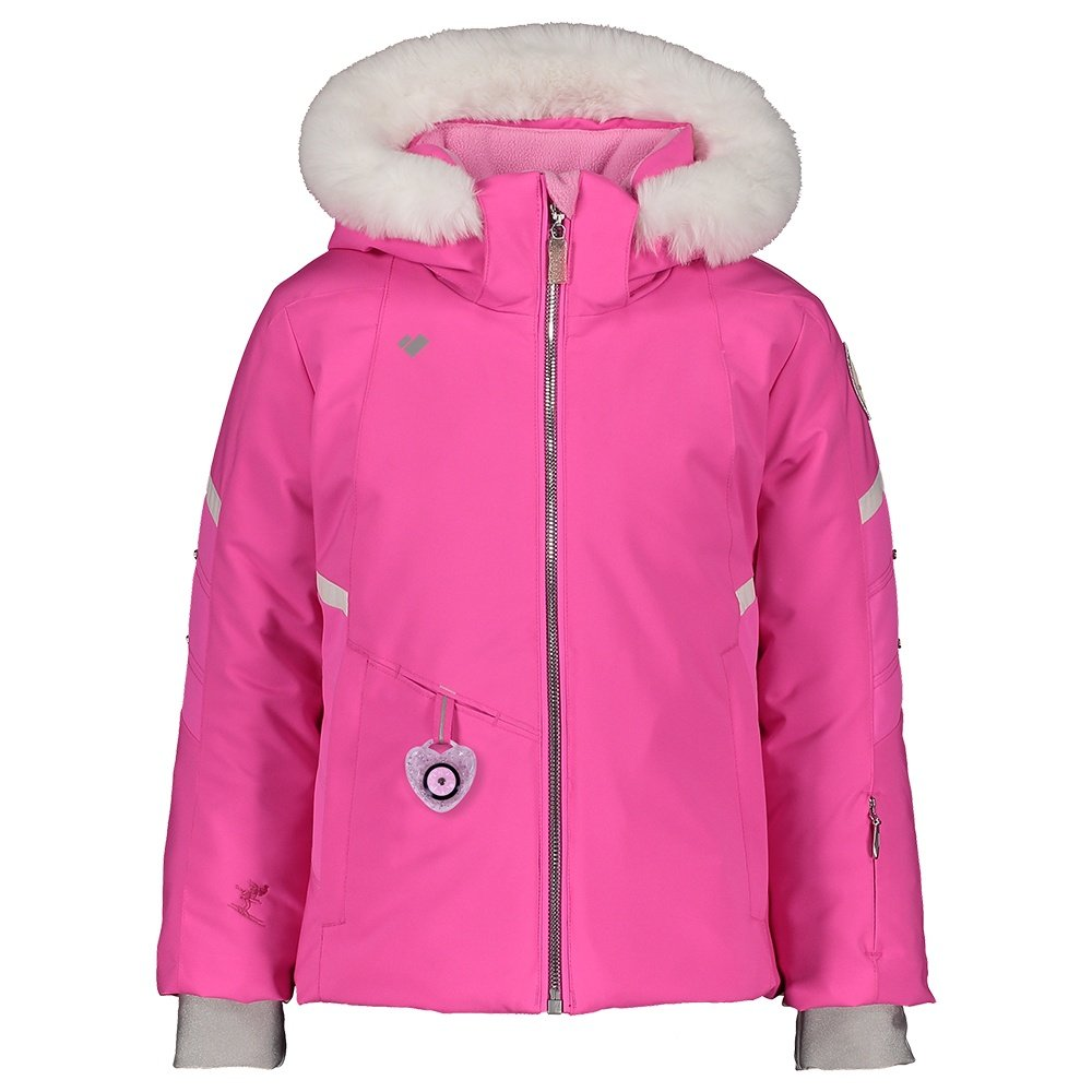 Obermeyer Katelyn Insulated Ski Jacket with Faux Fur (Little Girls') - Pink PWR