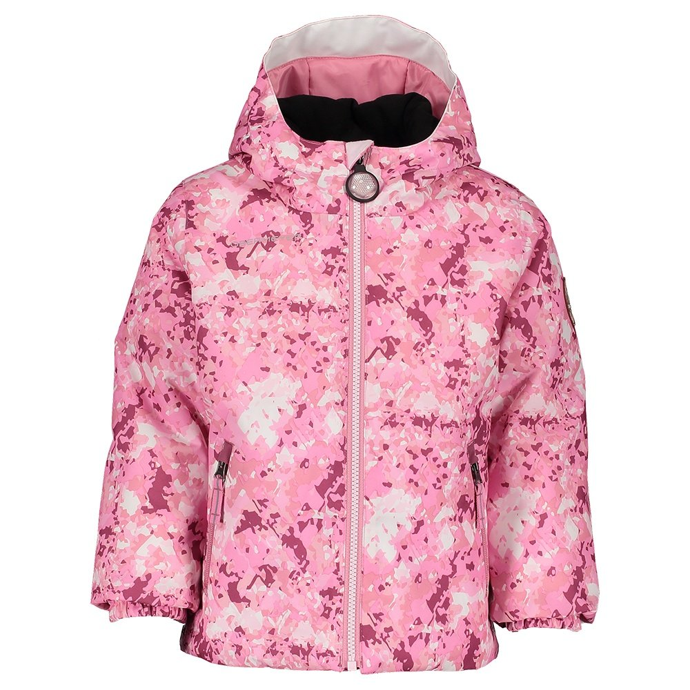 Obermeyer Ash Insulated Ski Jacket (Little Kids') - Pink Blizzard