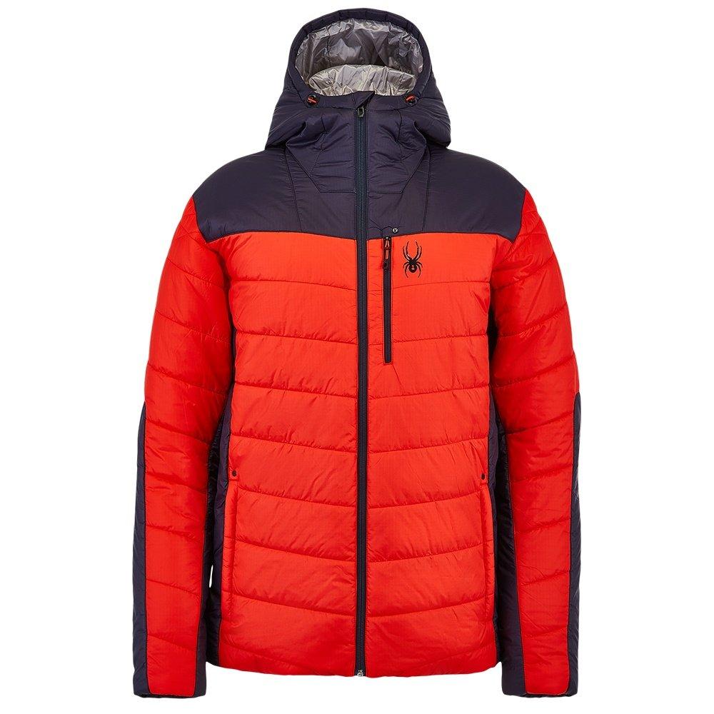 Spyder Glissade Hoodie Insulator Jacket (Men's) - Ebony/Volcano