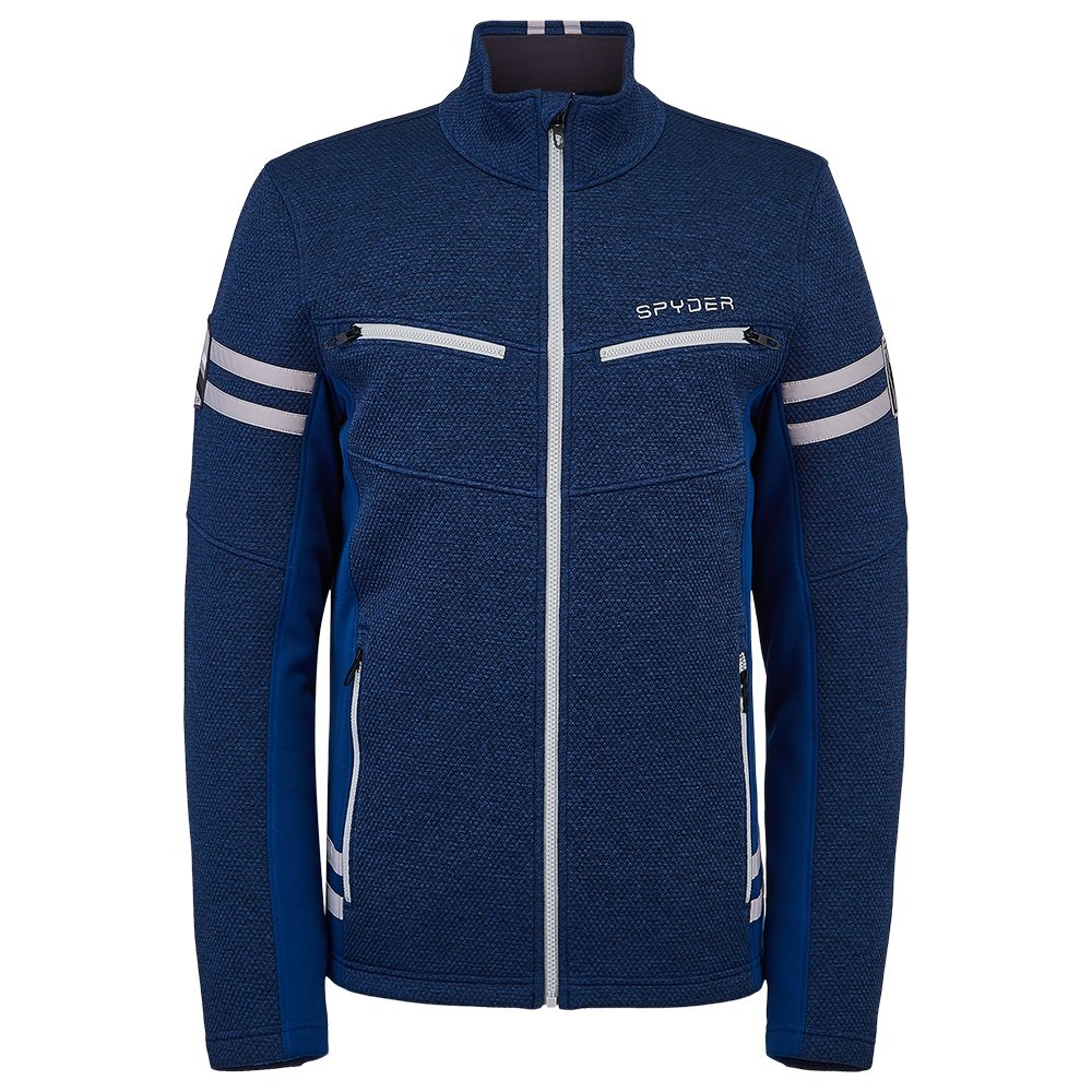 Spyder Wengen Encore Full Zip Fleece Jacket (Men's) - Abyss