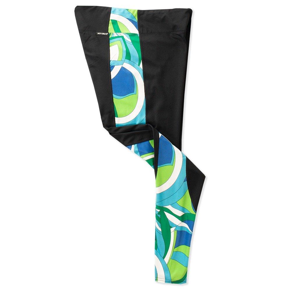 Hot Chillys Micro-Elite Fiesta Split Baselayer Legging (Women's) - Black/70s Tangy Lime