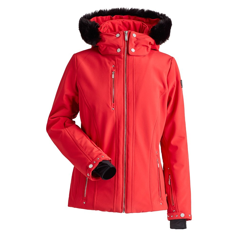 Nils Cossette X Plus Insulated Ski Jacket with Faux Fur (Women's) - Red
