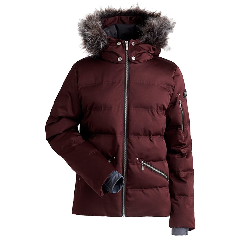 Nils Madeline Insulated Ski Jacket with Faux Fur (Women's) - Mahogany