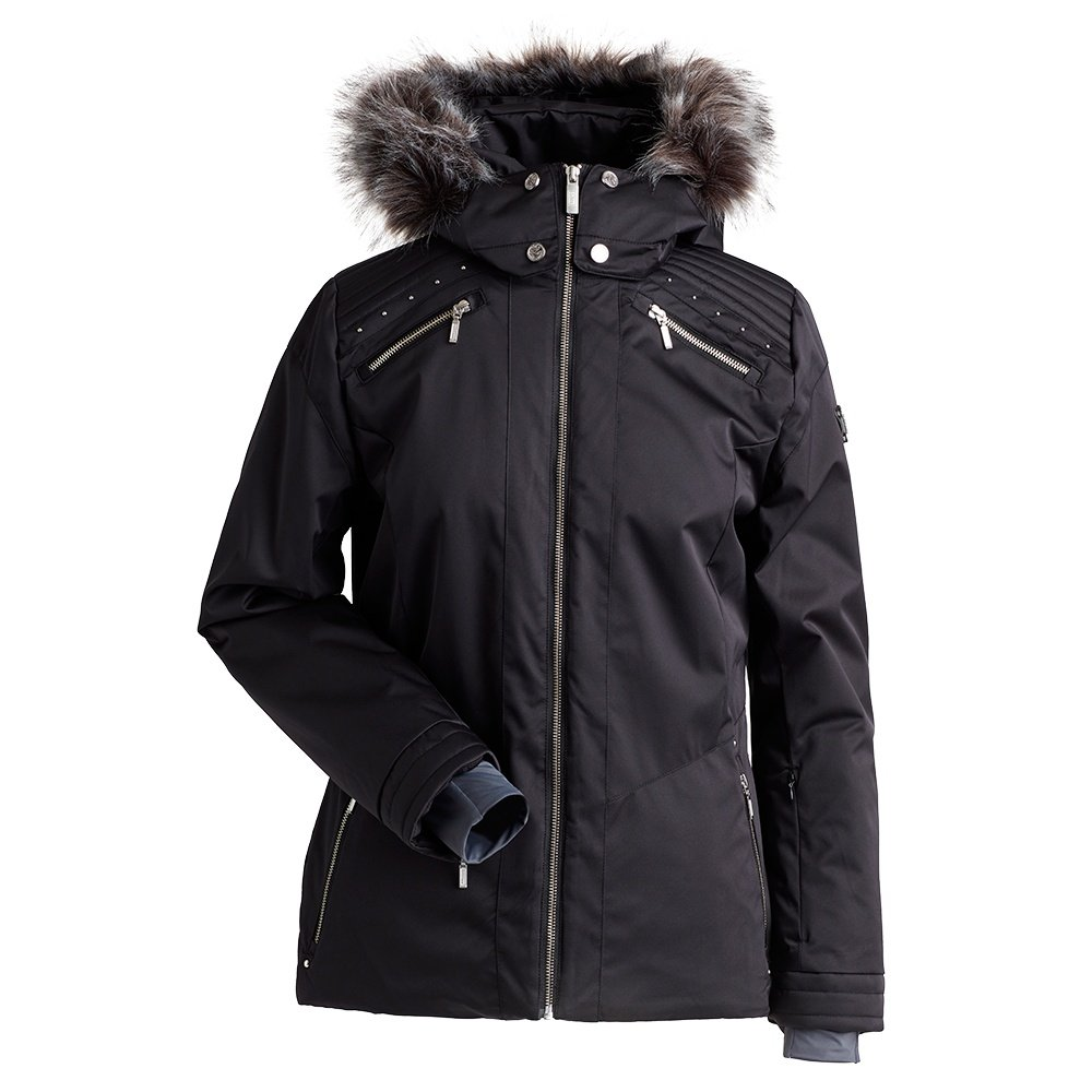 Nils Margaux Insulated Ski Jacket with Faux Fur (Women's) - Black
