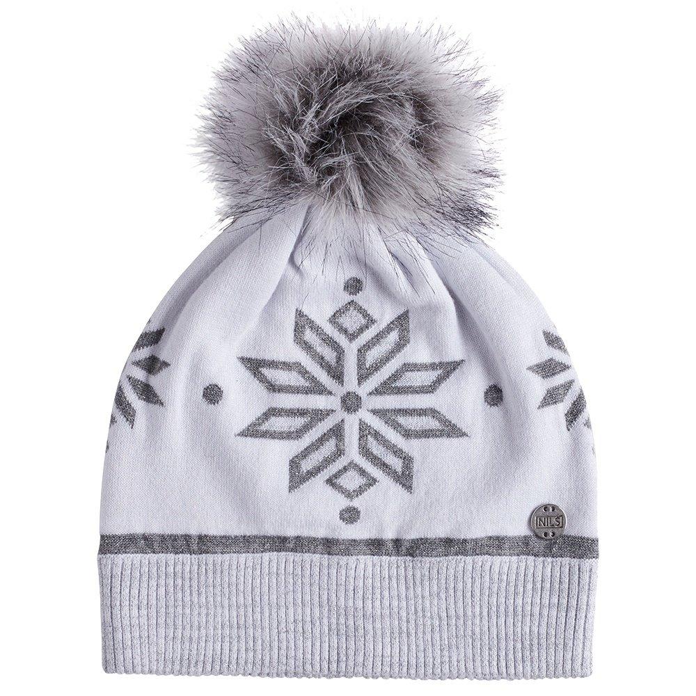 Nils Snowflake Hat (Women's) - White/Silver Metallic