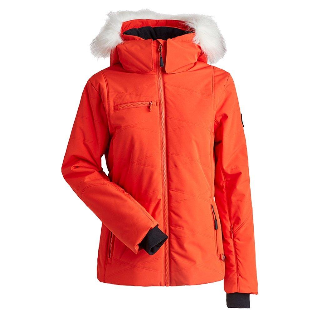 Nils Sasha Insulated Ski Jacket with Faux Fur (Women's) - Orange
