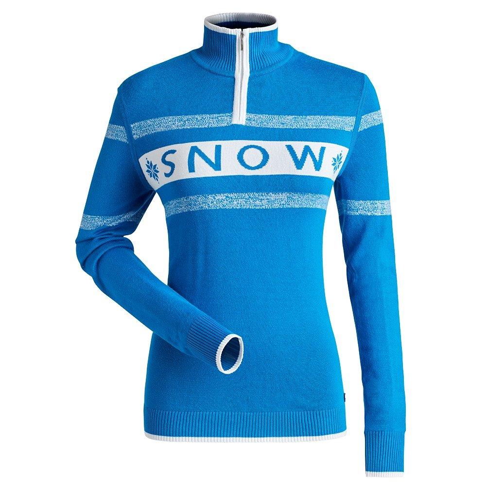 Nils Snow 1/4-Zip Sweater (Women's) - Ocean Blue