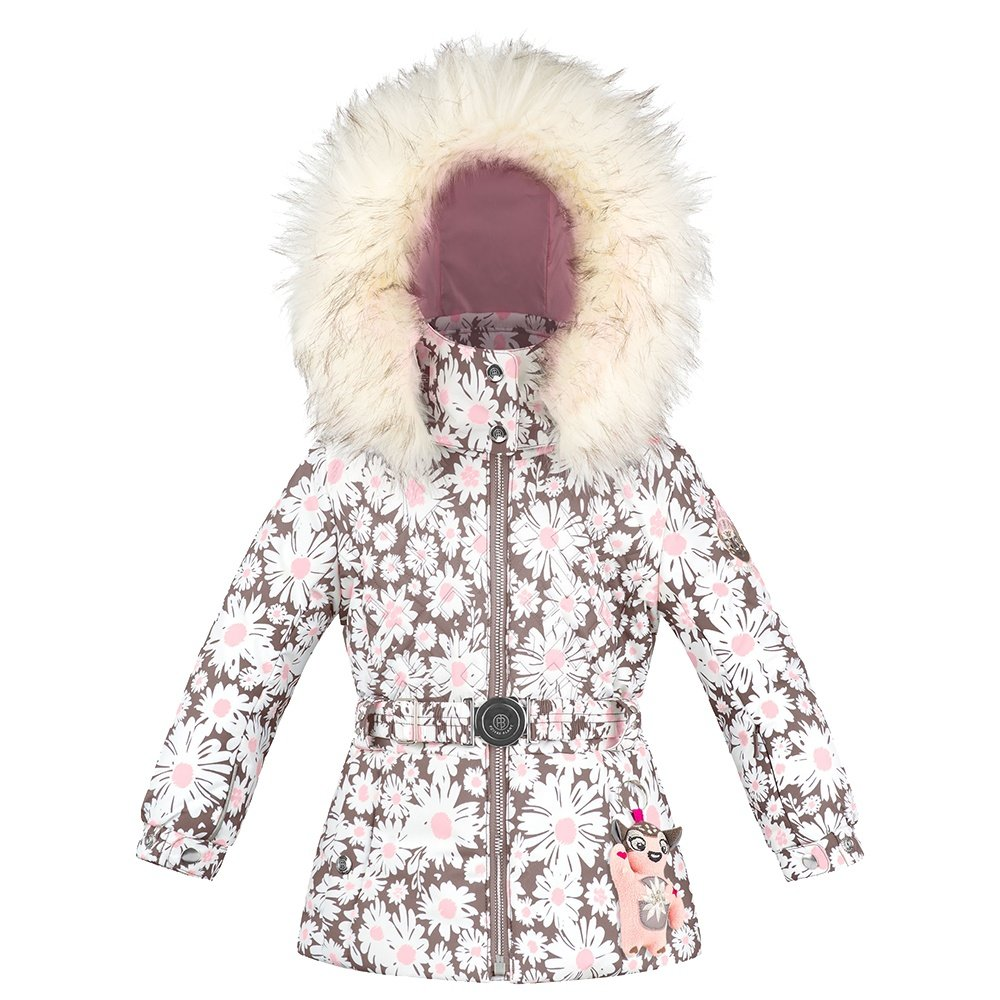 Poivre Blanc Frances Insulated Ski Jacket with Faux Fur (Little Girls') - Daisy Pink