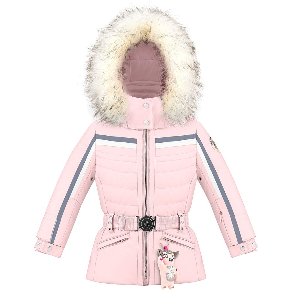 Poivre Blanc Chandler Insulated Ski Jacket with Faux Fur (Little Girls') - Angel Pink5