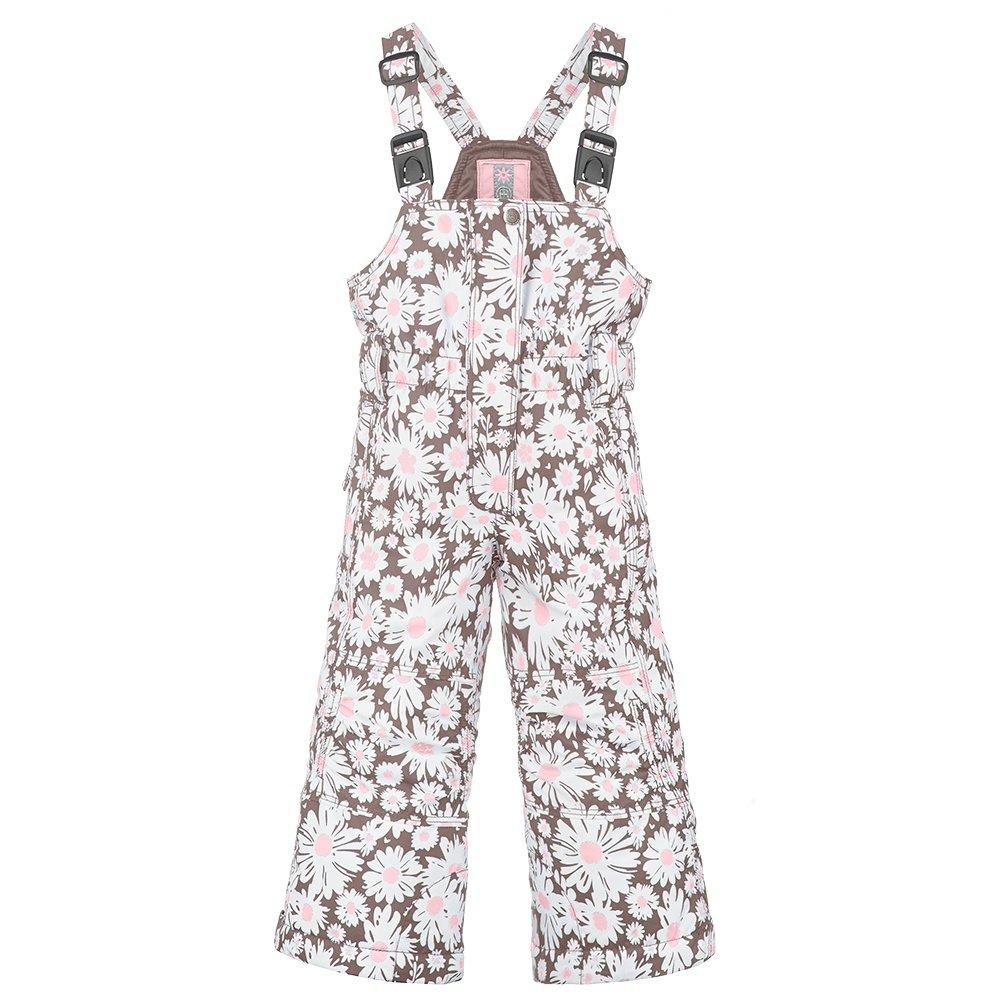 Poivre Blanc Cutie Pie Insulated Ski Bib Pant (Little Girls') - Daisy Pink