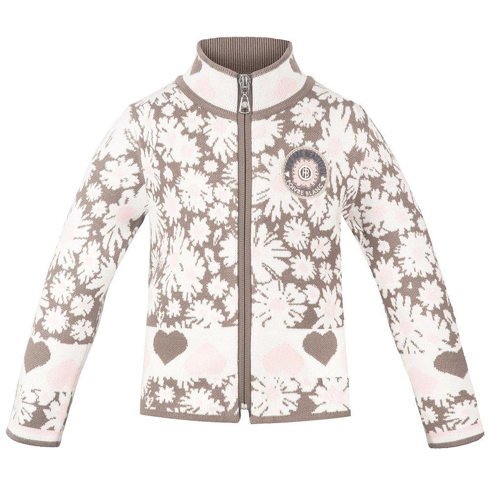 Poivre Blanc Beautiful Full-Zip Sweater (Little Girls') - Daisy Pink