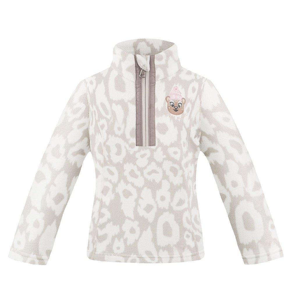 Poivre Blanc Winter Friends 1/4 -Zip Fleece Mid-Layer (Little Girls') - Panther Grey