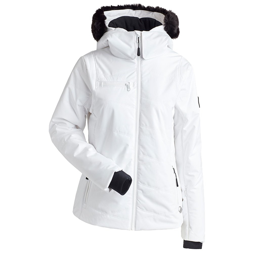 Nils Cossette Insulated Ski Jacket with Faux Fur (Women's) - White
