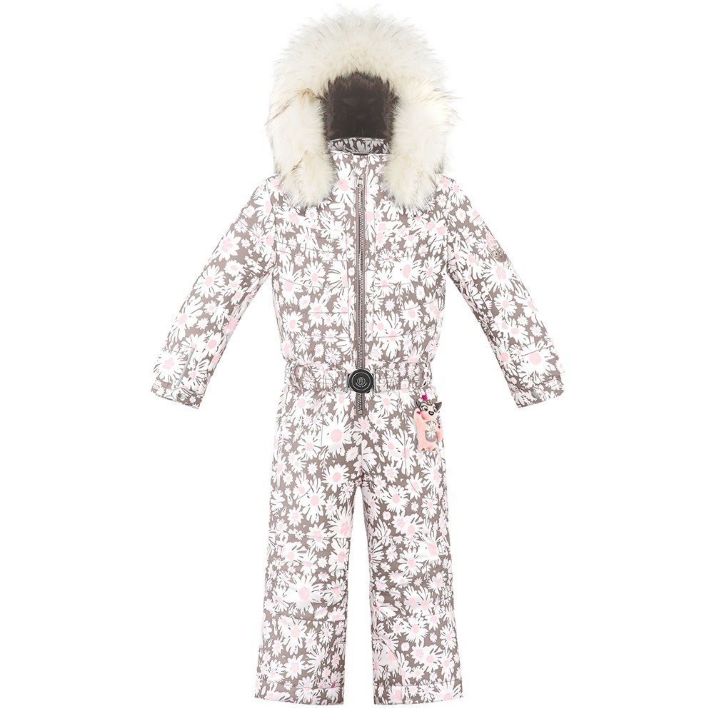 Poivre Blanc Mattie Girl Insulated Ski Suit with Faux Fur (Little Girls') - Daisy Pink