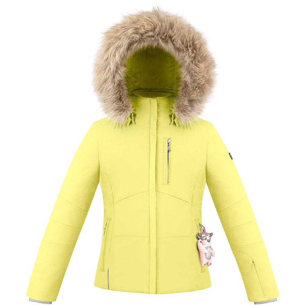 Poivre Blanc Genie Stretch Insulated Ski Jacket with Faux Fur (Girls') - Aurora Yellow