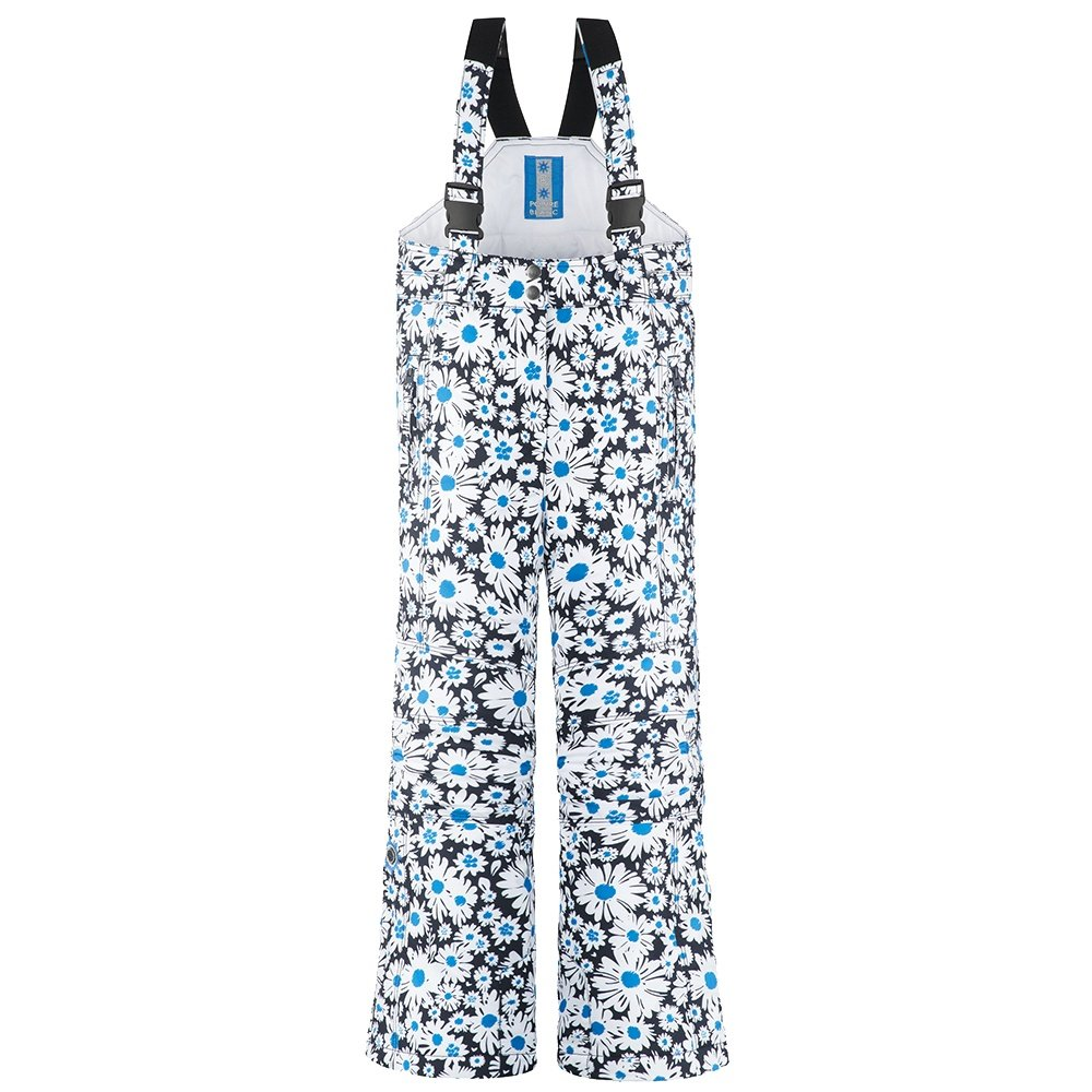 Poivre Blanc Daisy Insulated Ski Bib Pants (Girls') - Fancy Daisy Blue