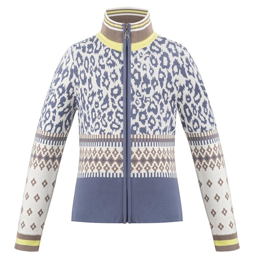 Poivre Blanc Sassy Knit Full-Zip Sweater (Girls') - Panther Blue