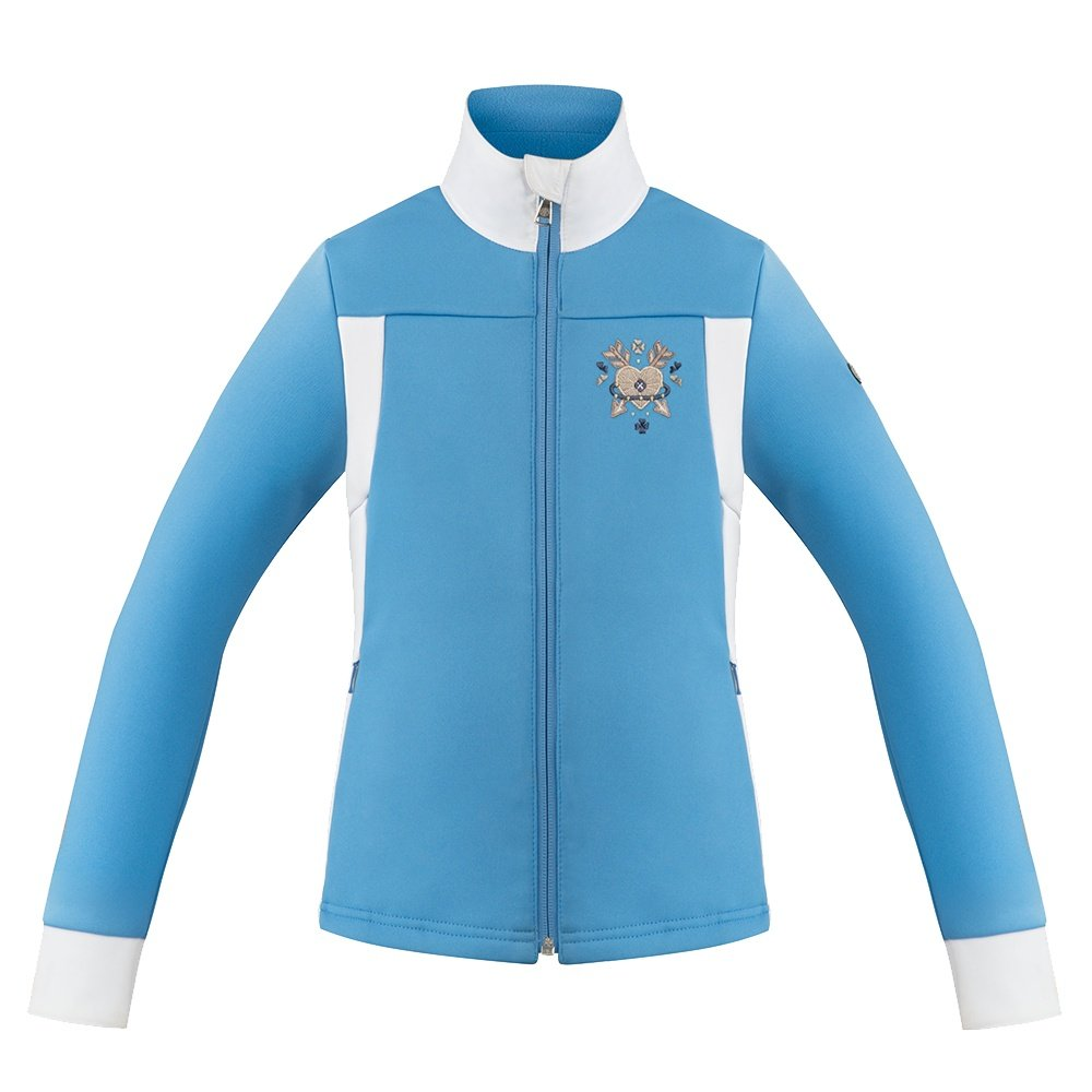 Poivre Blanc My Heart Full Zip Fleece Sweater (Girls') - Multico Polar Blue