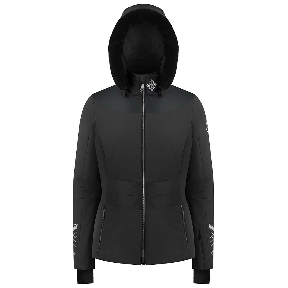 Poivre Blanc Eugenia Insulated Ski Jacket with Faux Fur (Women's) - Fancy Black