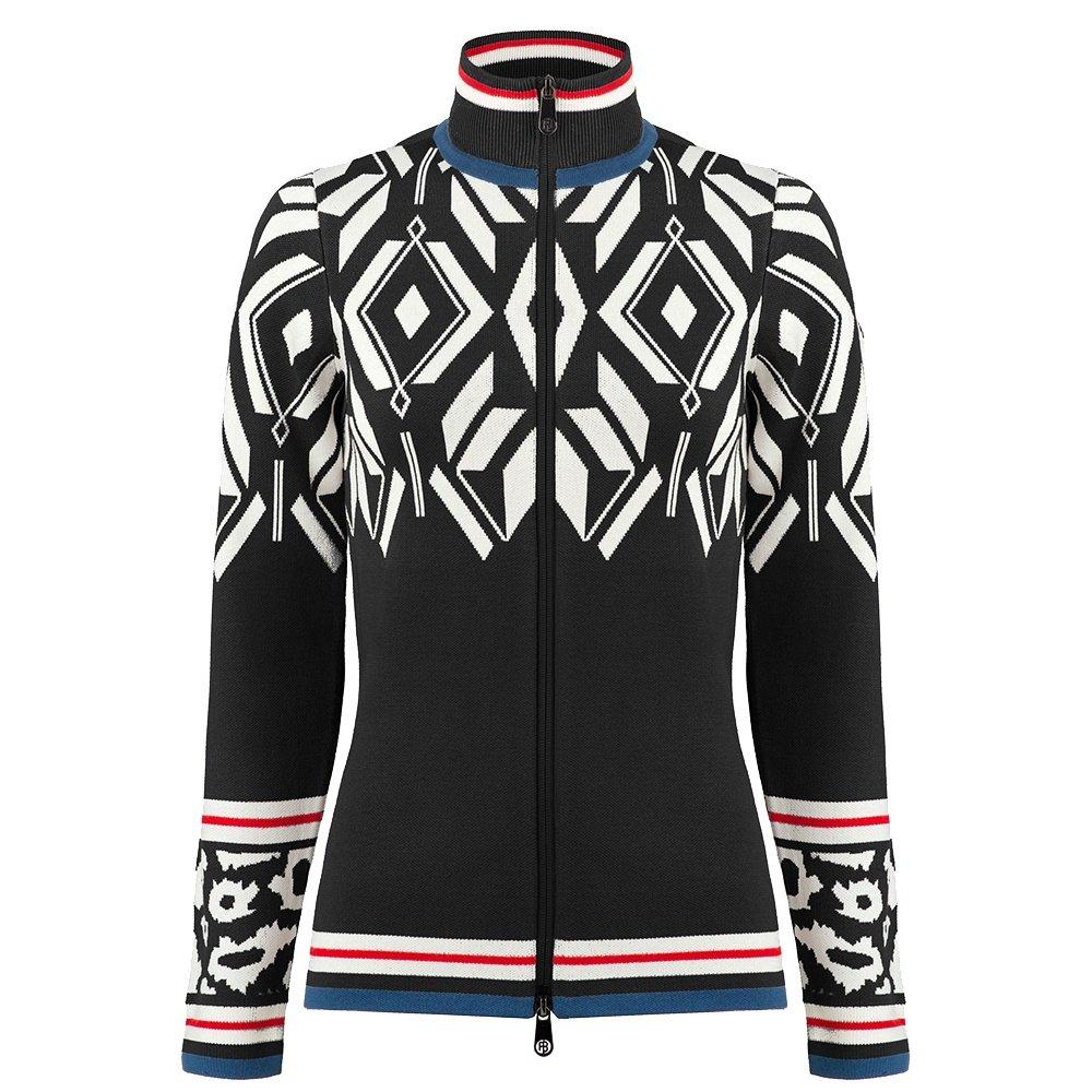 Poivre Blanc Lida Full-Zip Sweater (Women's) - Multico Black