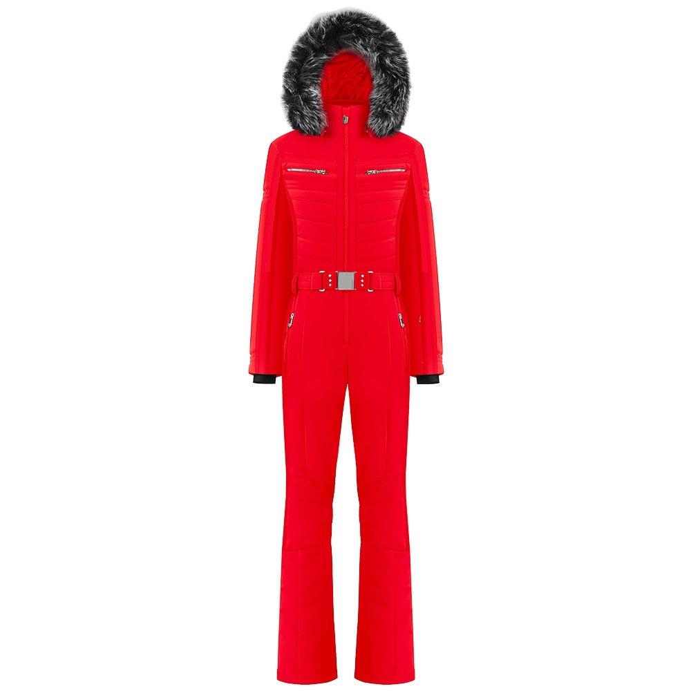 Poivre Blanc Natalie Stretch Insulated Ski Suit with Faux Fur (Women's) - Scarlett