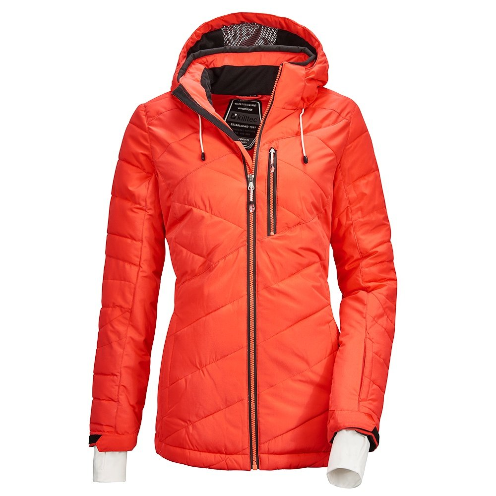 Killtec Savognin Quilted Insulated Ski Jacket (Women's) - Neon Coral