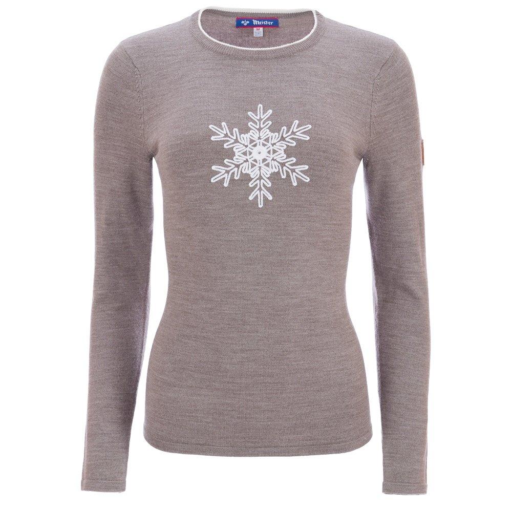 Meister Noel Crewneck Sweater (Women's) - Twig Heather/W White