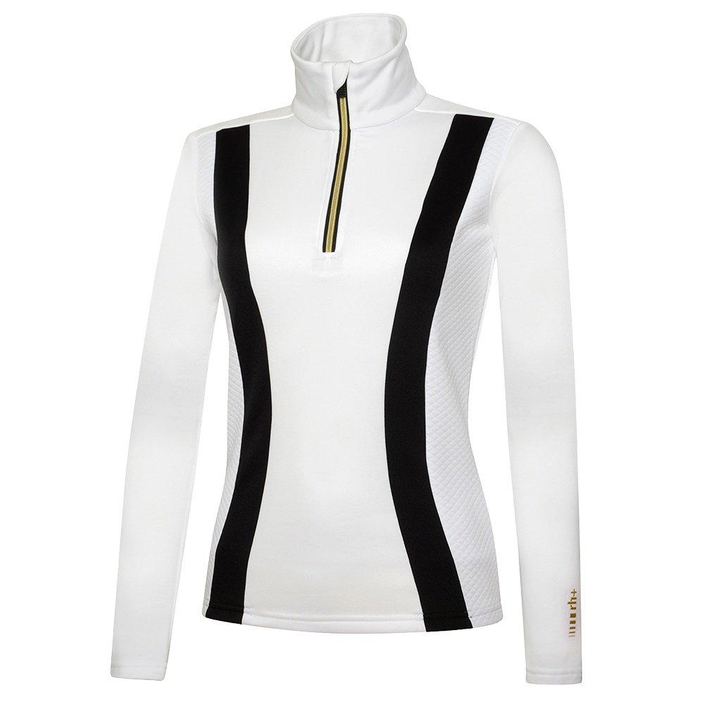 Rh+ Zero Jersey 1/4-Zip Turtleneck Mid-Layer (Women's) - White/Black