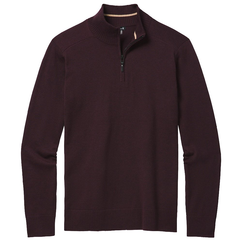 Smartwool Sparwood 1/2-Zip Sweater (Men's) - Woodsmoke Heather