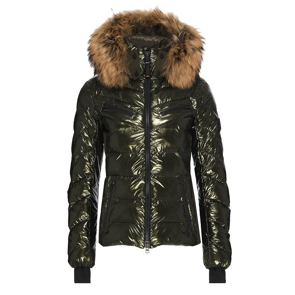Bogner Fire + Ice Farina Insulated Ski Jacket with Real Fur (Women's) - Olive
