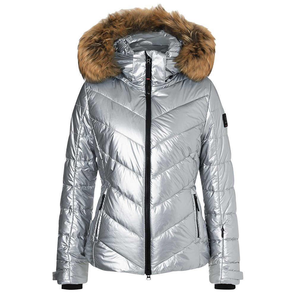 Bogner Fire + Ice Sassy2 Insulated Ski Jacket with Real Fur (Women's) - Silver