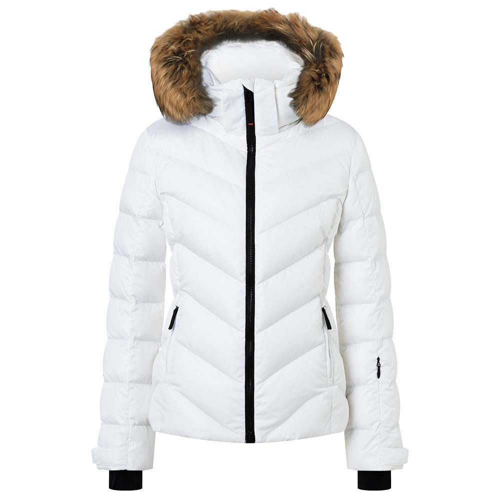 Bogner Fire + Ice Sassy2-D Down Ski Jacket with Real Fur (Women's) - White