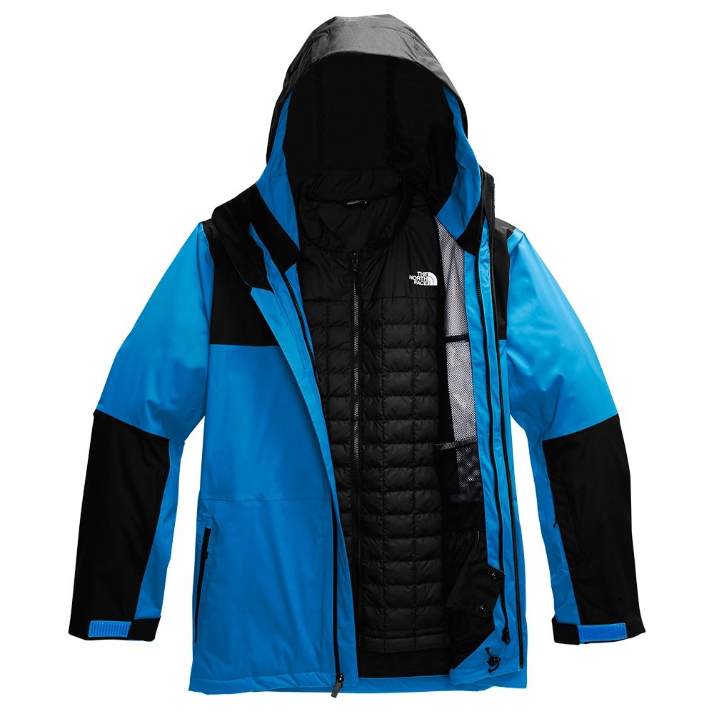 The North Face ThermoBall Eco Snow Triclimate Ski Jacket (Men's) - Clear Lake Blue/TNF Black