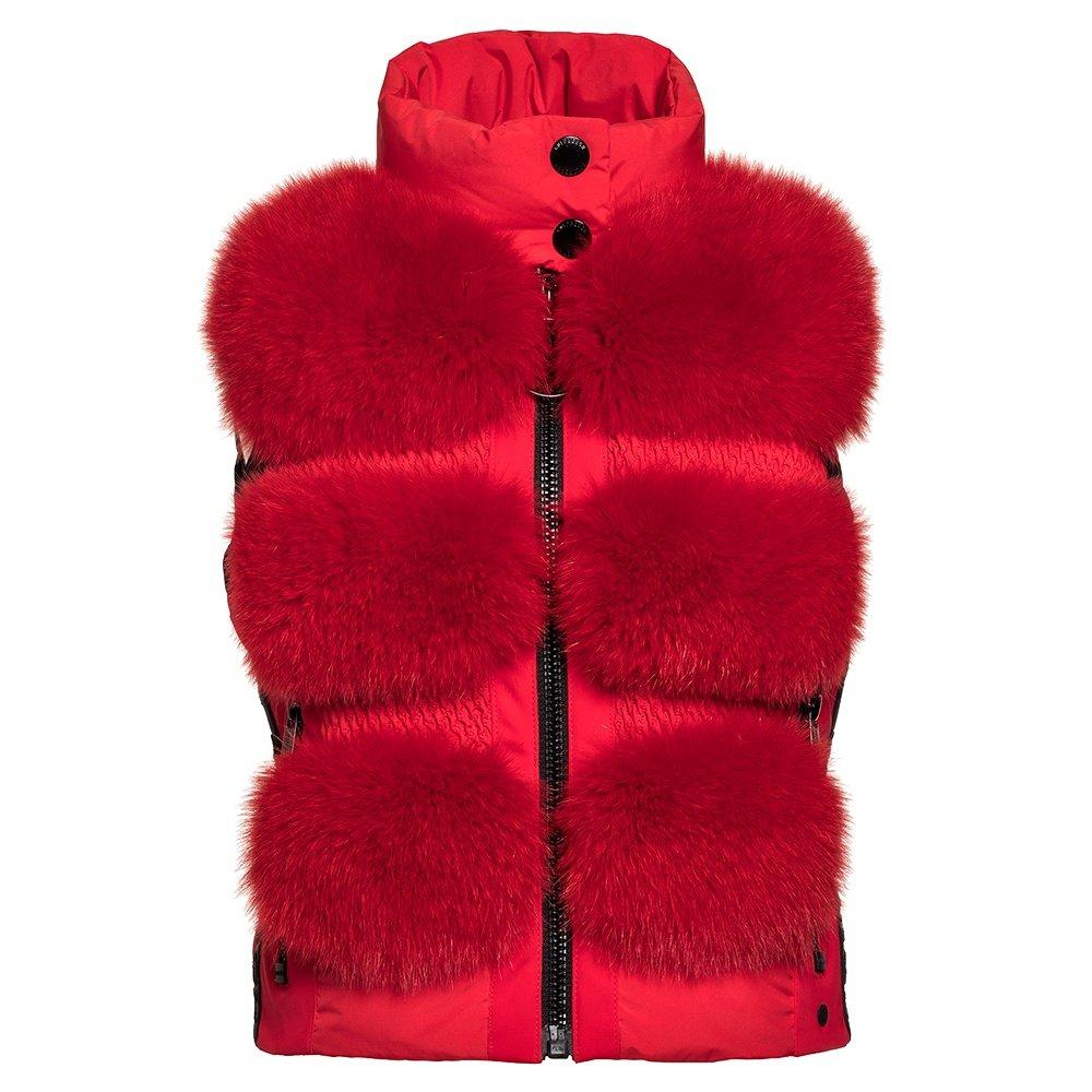 Goldbergh Foxy Real Fur Vest (Women's) - Ruby Red