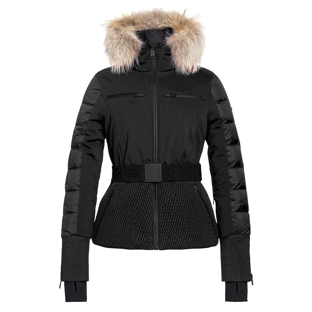 Goldbergh Stylish Down Ski Jacket with Real Fur (Women's) - Black