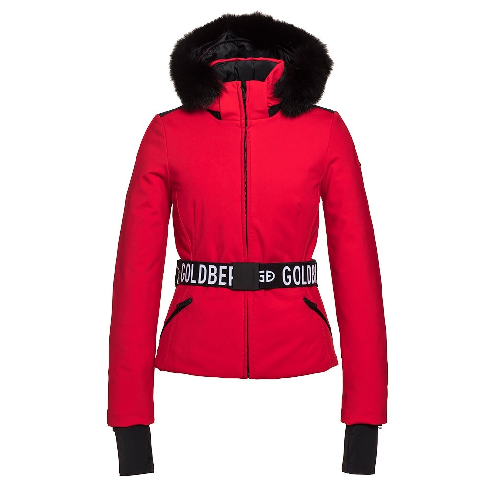 Goldbergh Hida Insulated Down Ski Jacket with Real Fur (Women's) - Ruby Red