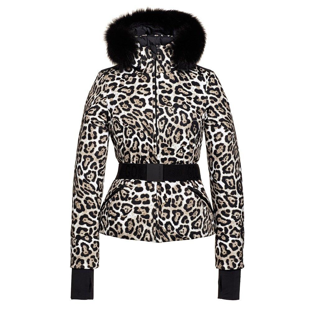 Goldbergh Wild Down Ski Jacket with Real Fur (Women's) - Leopard