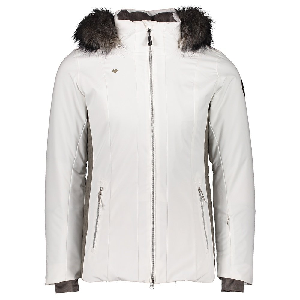 Obermeyer Siren Insulated Ski Jacket with Faux Fur (Women's) - White